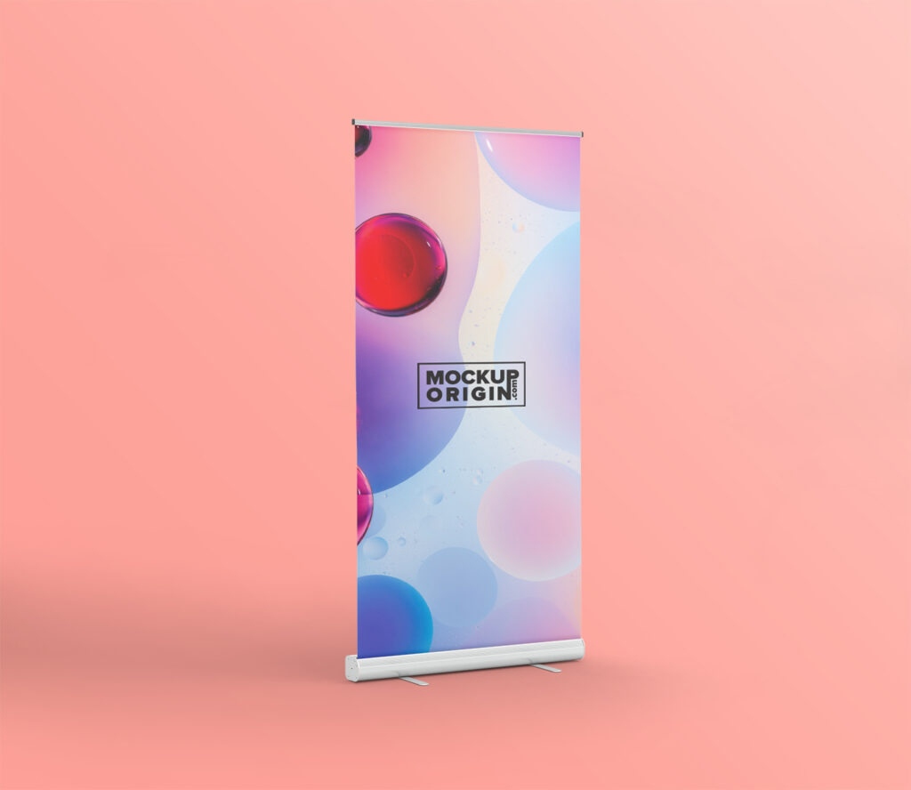 Rollup Stand Banner Mockup Free PSD