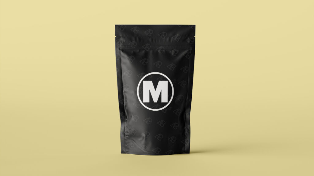 Showcase Pouch Bag Packaging Mockup Free PSD