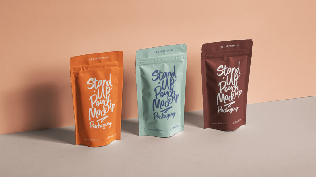 Standing Pouch Mockup Free PSD